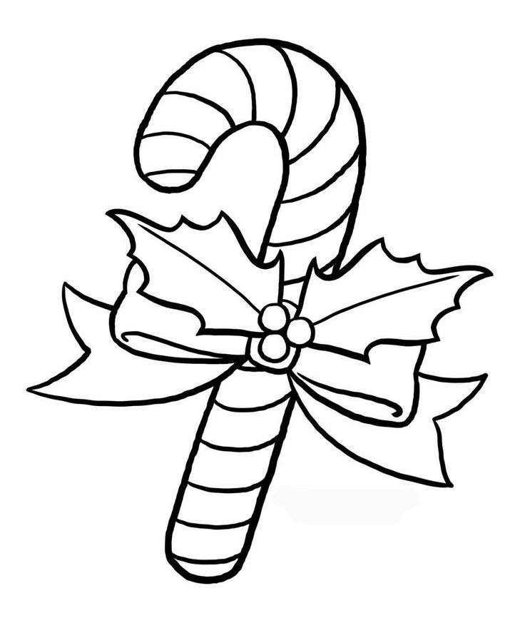 Cute Candy Cane Coloring Pages | Printable Coloring Pages - Cliparts ...