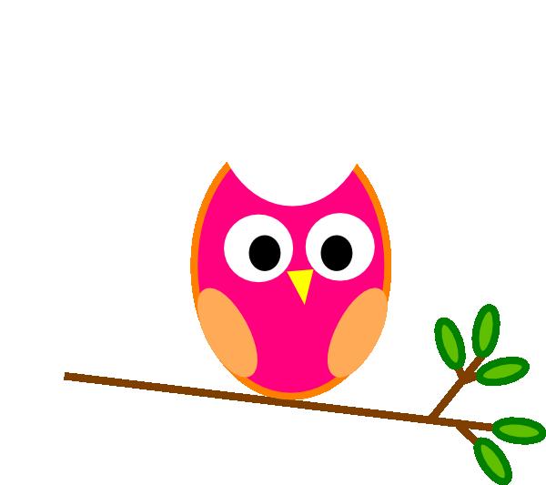 Pink Owl clip art - vector clip art online, royalty free & public ...