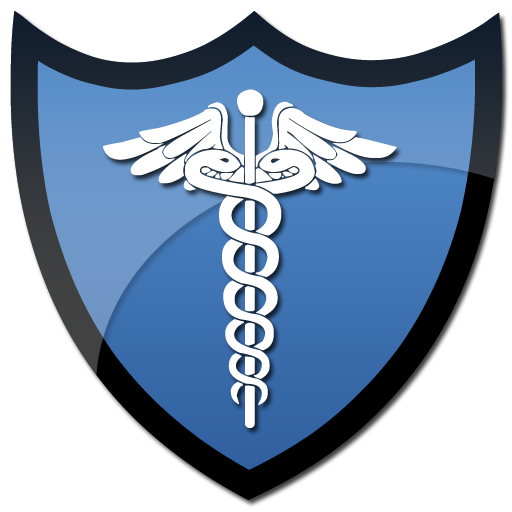 Symbol of caduceus on a shield clipart image - ipharmd.