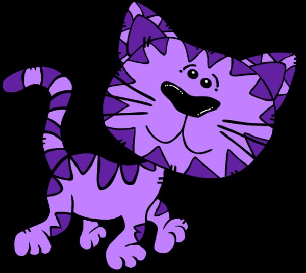 purple cartoon cat cliparts co free kitchen clipart borders free kittens clip art