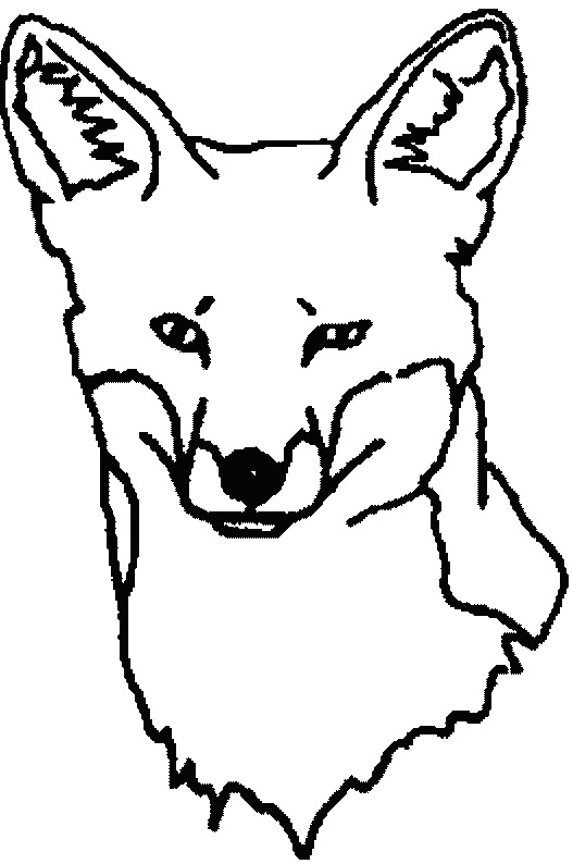 The pictures for Fox Face Coloring Pages