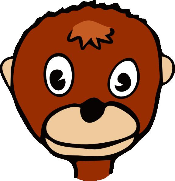 Cartoon Monkey Face clip art - vector clip art online, royalty ...
