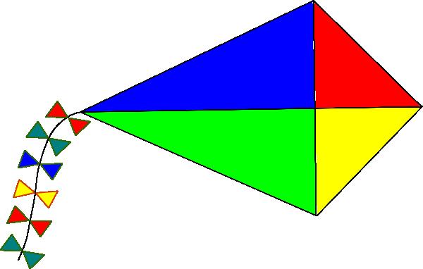 Rainbow Kite Clip art - Design - Download vector clip art online ...