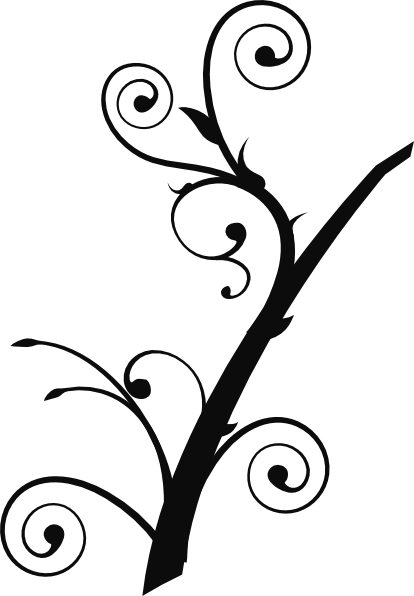 Twisted Branch 2 clip art - vector clip art online, royalty free ...