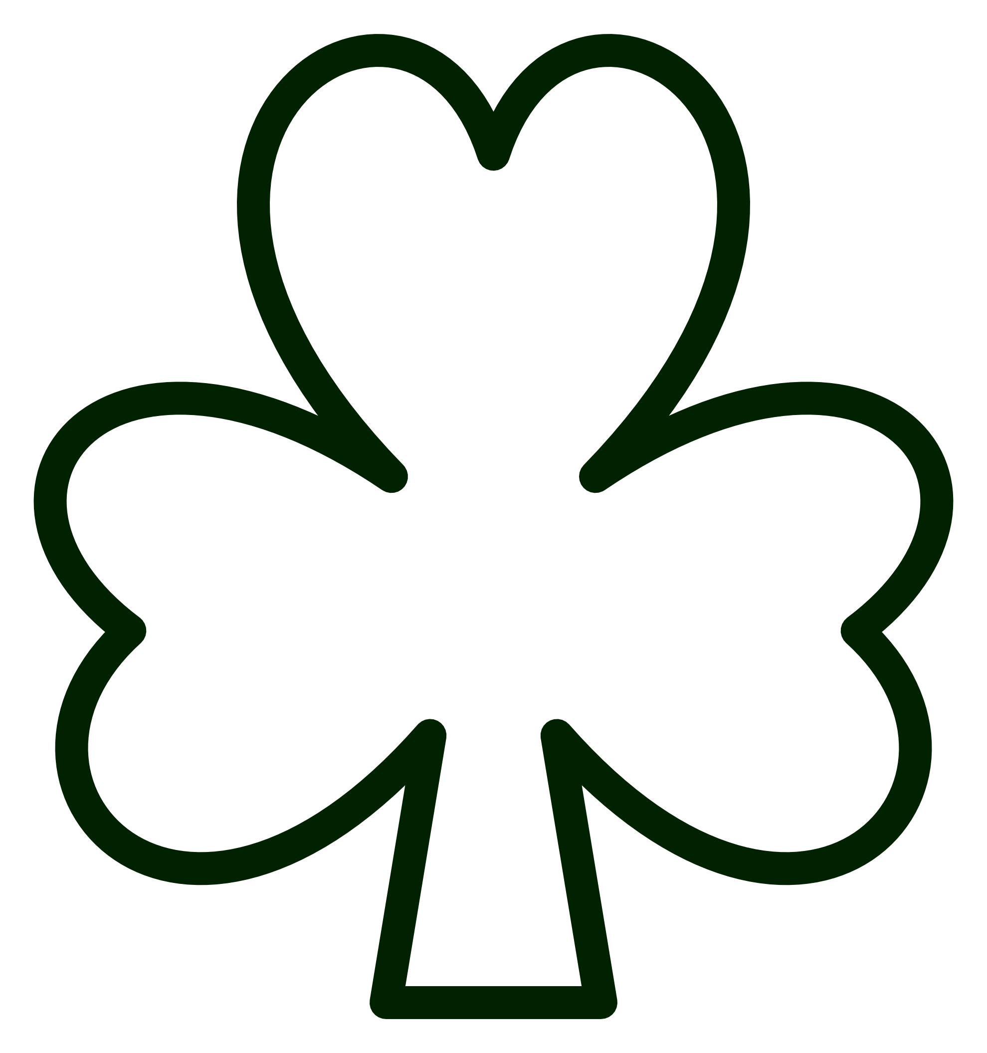 clipartist.net » Clip Art » saint pattys shamrock black white line ...