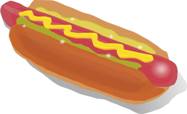 Hot Dog Sandwich clip art Free Vector / 4Vector