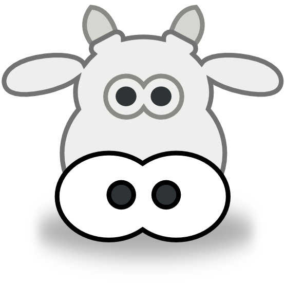 Cow Clipart Black And White | Clipart Panda - Free Clipart Images