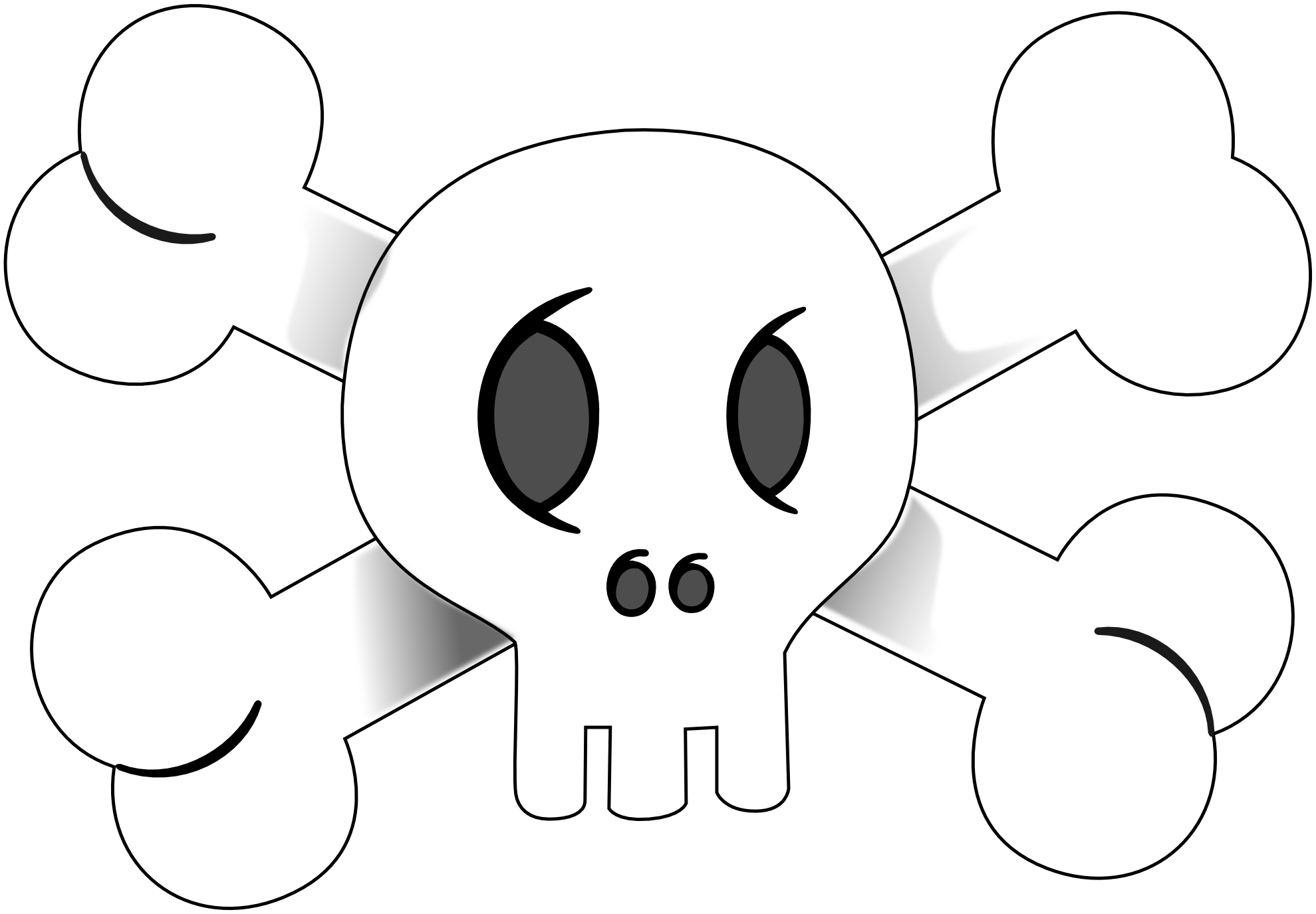 Pirate Flag Clipart Black And White | Clipart Panda - Free Clipart ...