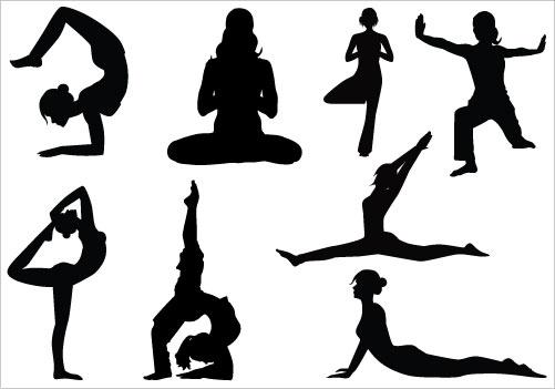 Line Art Yoga : Yoga clipart cliparts
