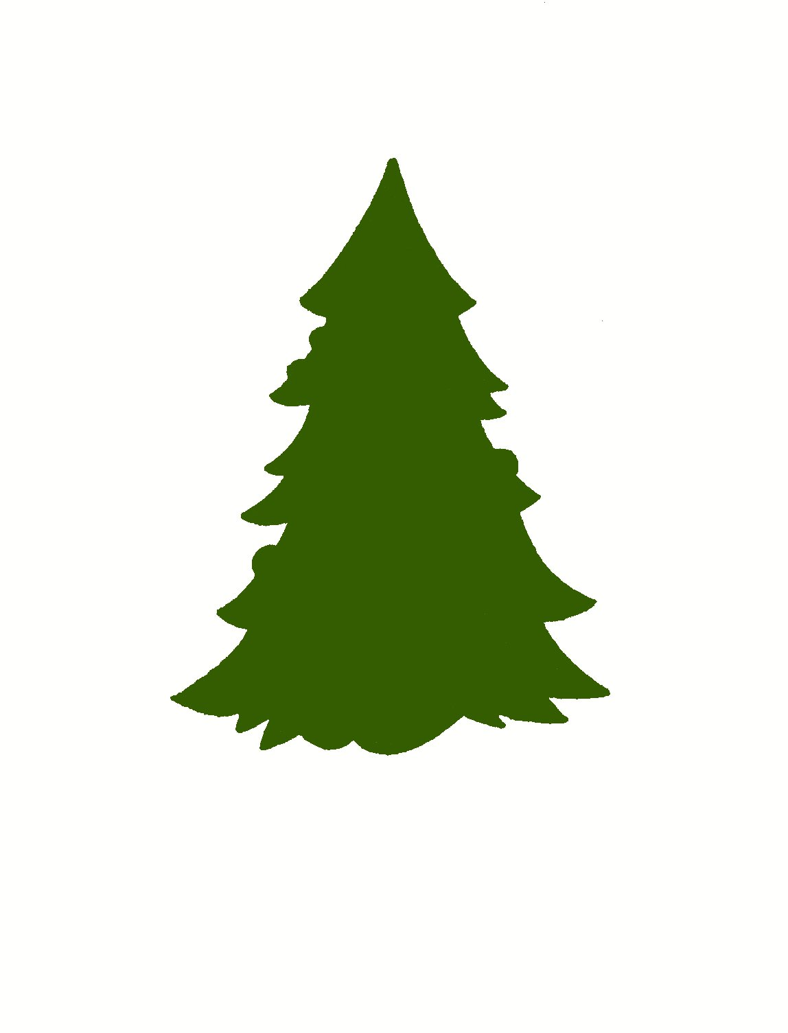 Christmas Tree Silhouette - ClipArt Best