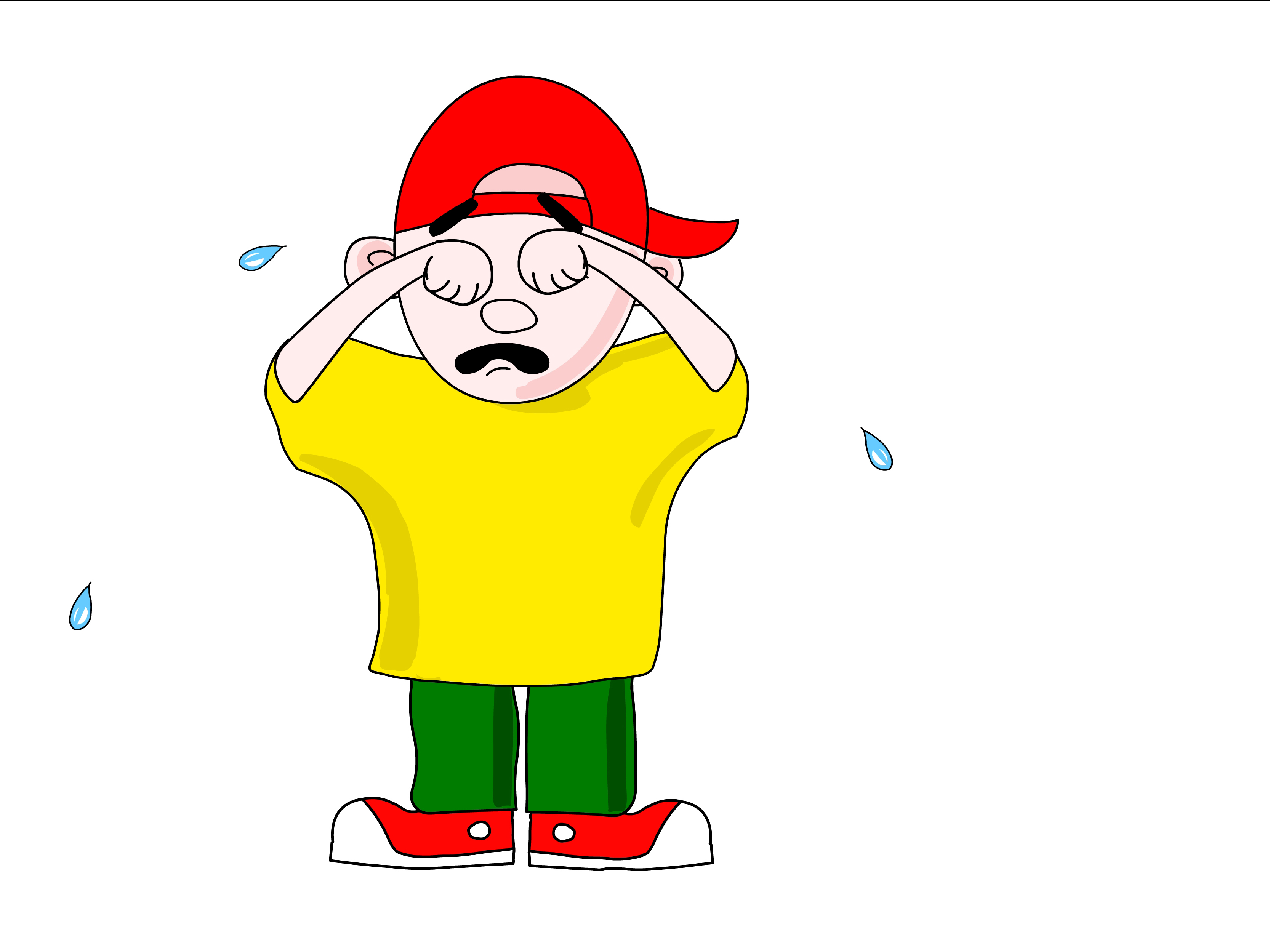 A Cartoon People Crying - ClipArt Best