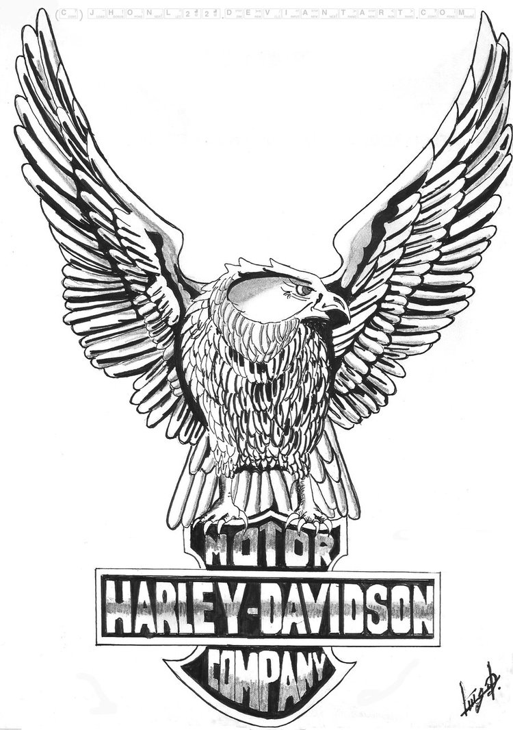 the pictures for --> harley davidson eagle logo vector