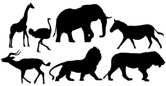 Pix For > African Animal Silhouette Clip Art