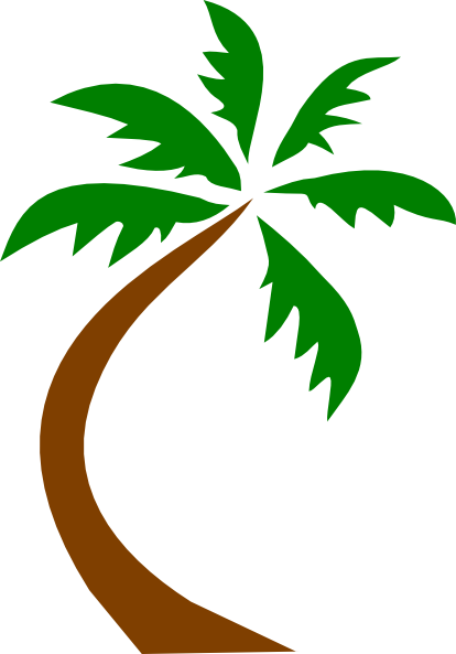 Palm Tree Curved Clip Art Clip art - Nature - Download vector clip ...