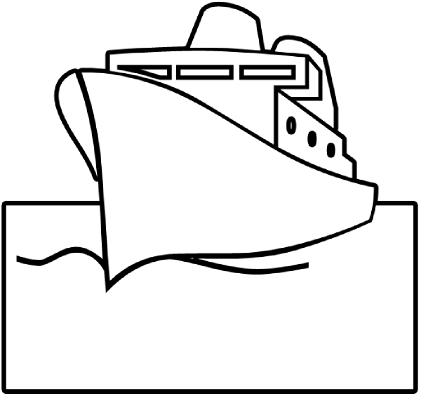 Pirate Ship Outline - ClipArt Best