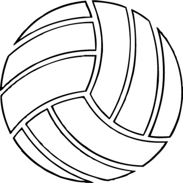 Volleyball image - vector clip art online, royalty free & public ...