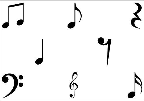 Music Notes Symbols Silhouette Musical Notes ClipartSilhouette ...