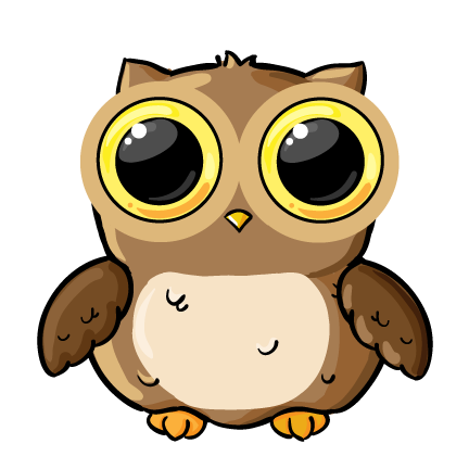 cartoon owl face