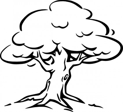 Tree Outline clip art Vector clip art - Free vector for free download