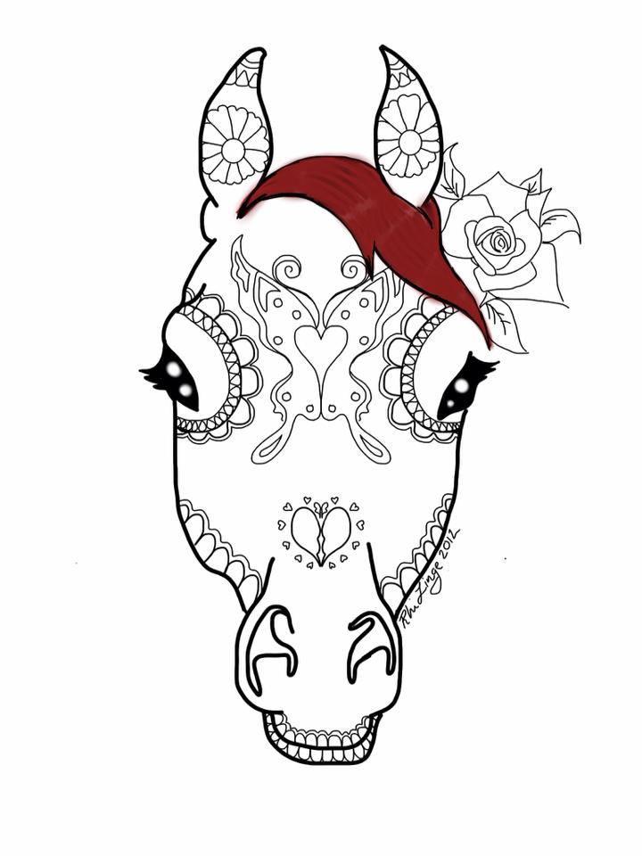 Animal sugar skull tattoo - photo#24
