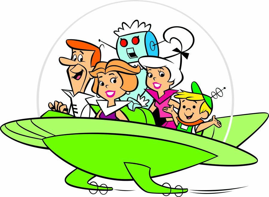 Cartoon Characters Jetsons : George jetson protagonist of the future cartoon