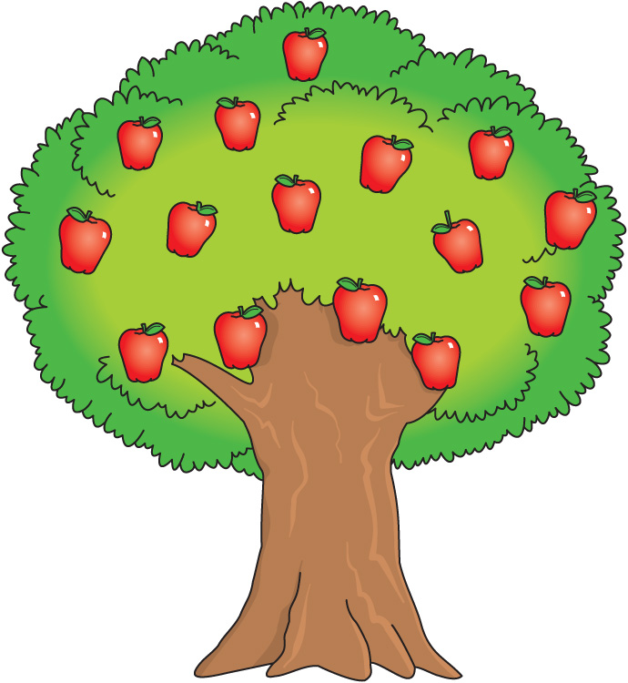 Cartoon Apple Tree