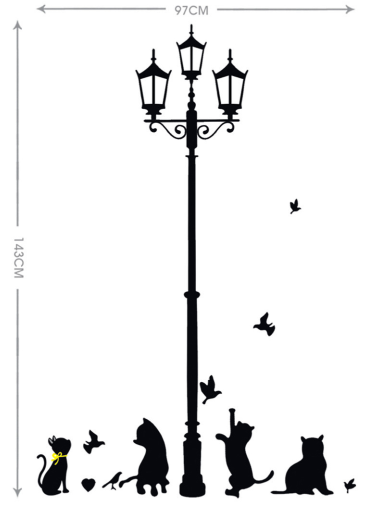 Aliexpress Buy Vintage Lamp Wall Stickers Cat Home Decor For