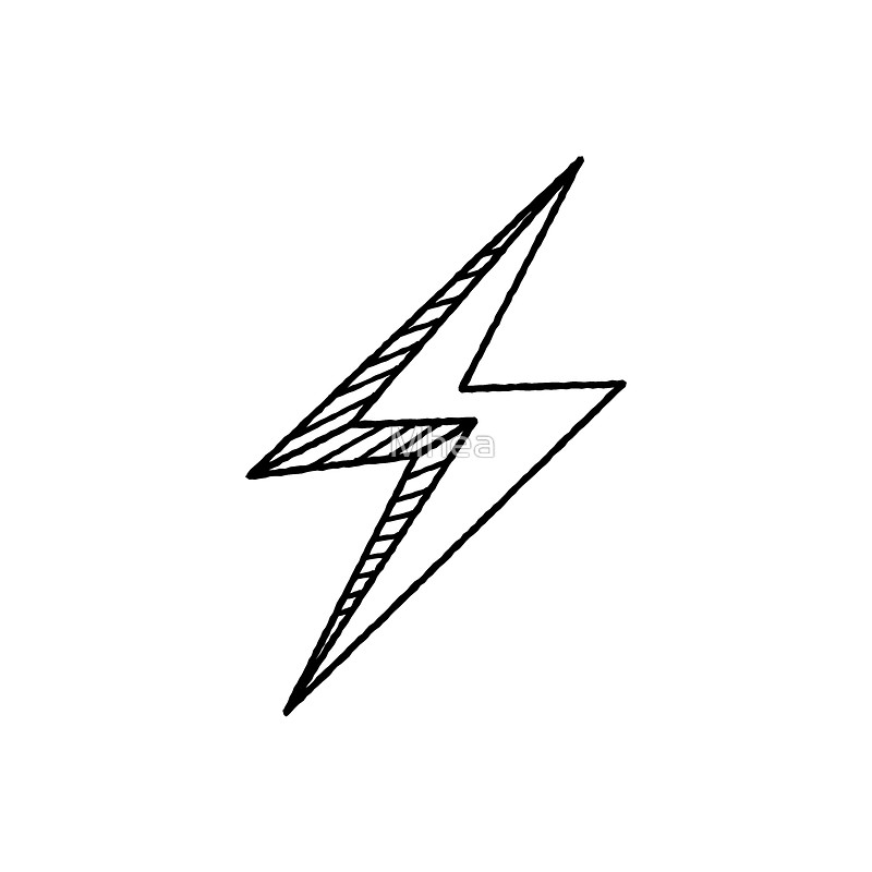Hand Drawn Lightning Bolt Quot Throw Pillows By Mhea