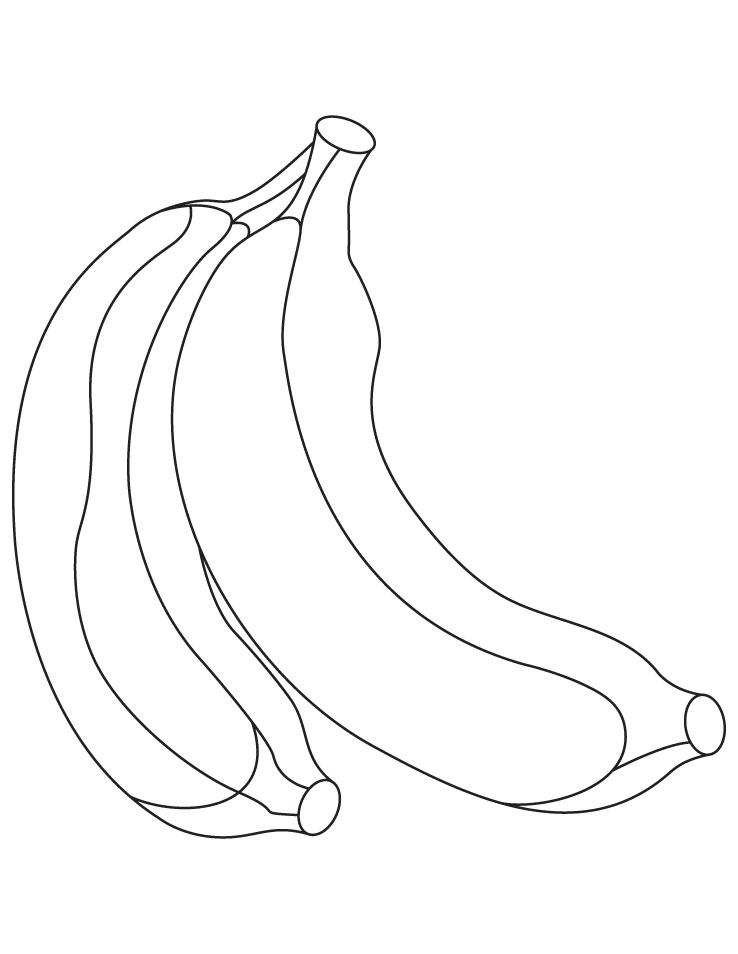 banana bunch coloring page - photo #46