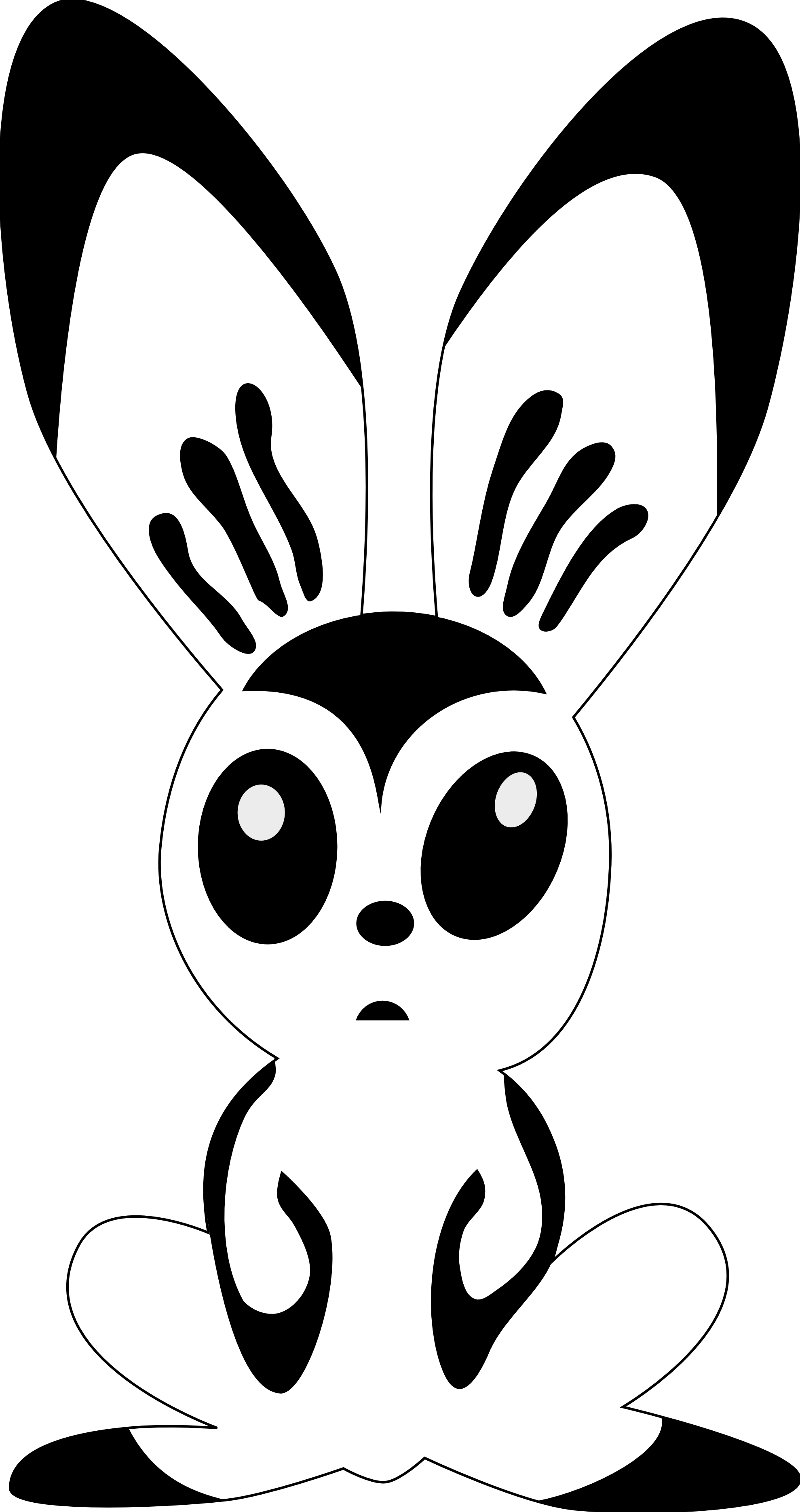 clipartist.net » Clip Art » hare by rones rabbit black white line ...