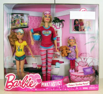 Amazon.com: Barbie Pink-Tastic Sisters Slumber Party (223952188 ...