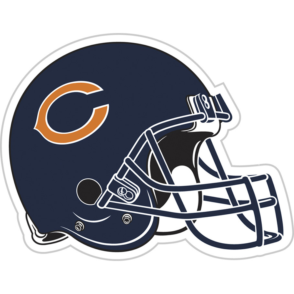 Chicago Bears Vinyl Magnet Set - Helmet Logo