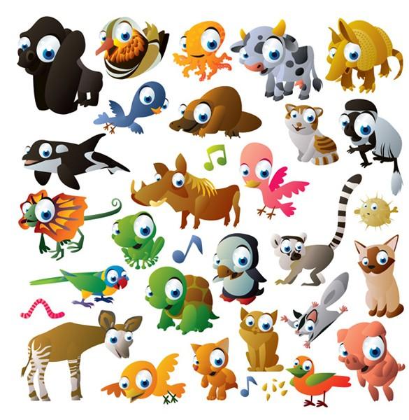 Cute Animals Cartoon - Cliparts.co