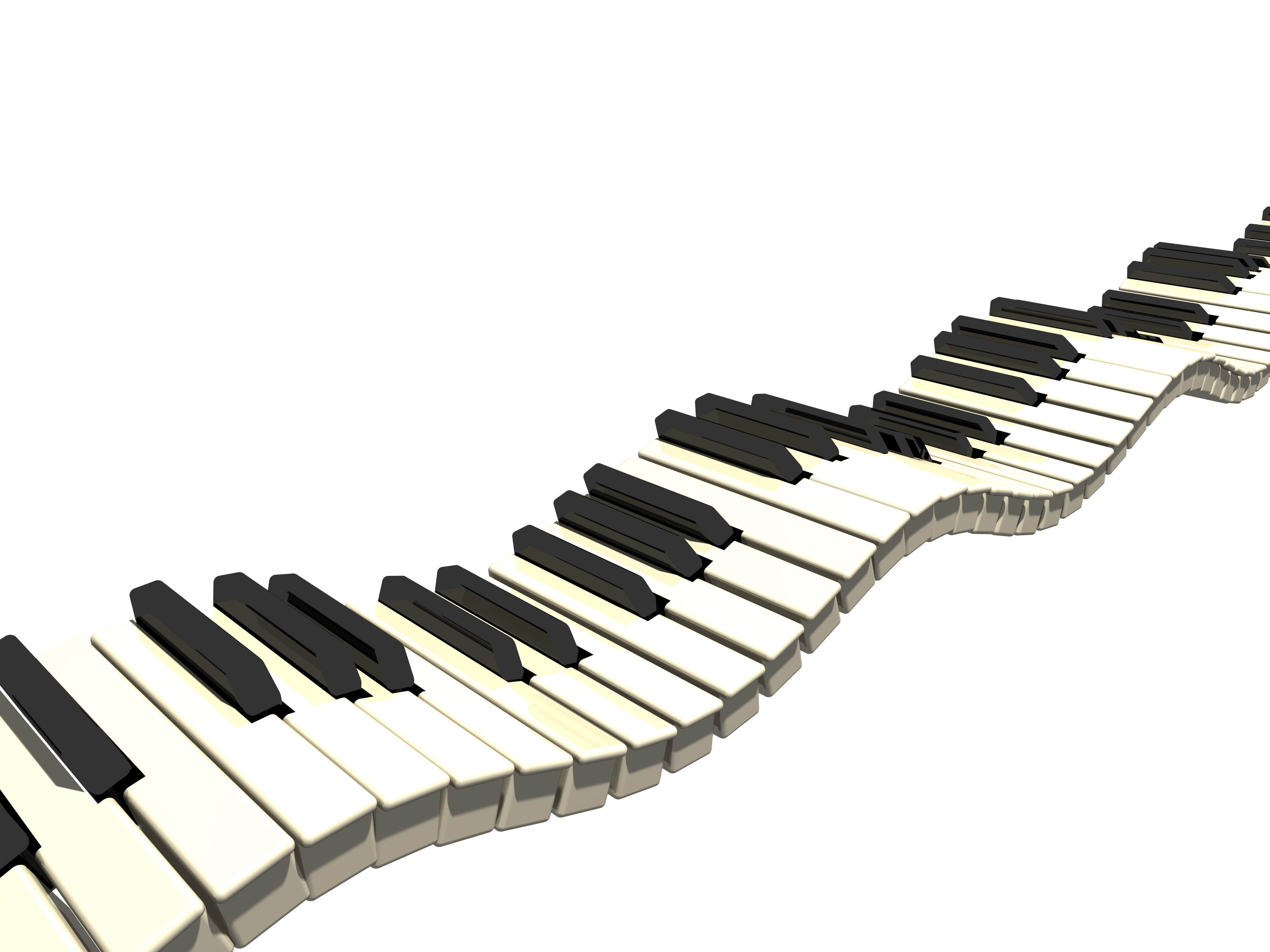 Wavy Piano Keys Clipart - Gallery