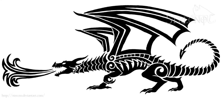 217248e44 Fire Breathing Dragon Tattoo Version 1 By Strecno On DeviantArt ...