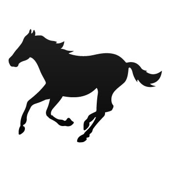 Decal Sticker Horse Mustang Silhouette Jumping Wild West Running ...