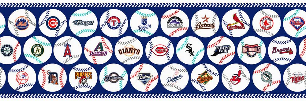 Baseball border for Baseball mural wallpaper