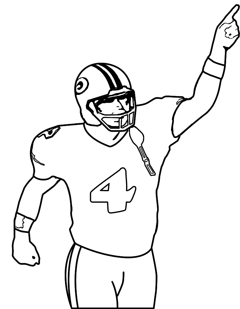 Football Player Drawing - Cliparts.co