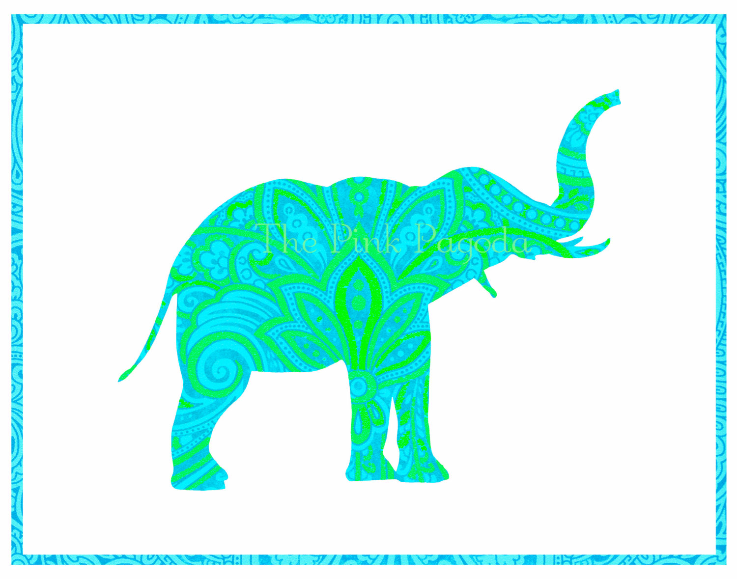 Elephant Stencil Trunk Up Popular items for elephant