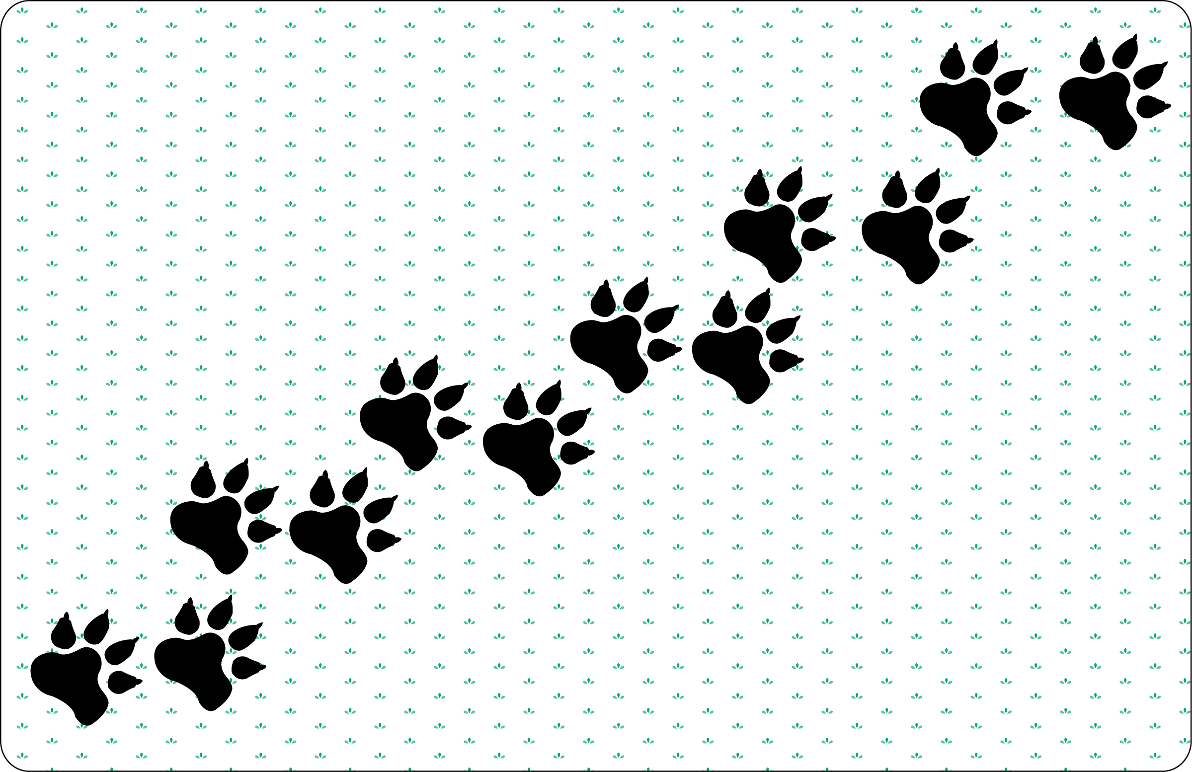 dog paw prints in - photo #33
