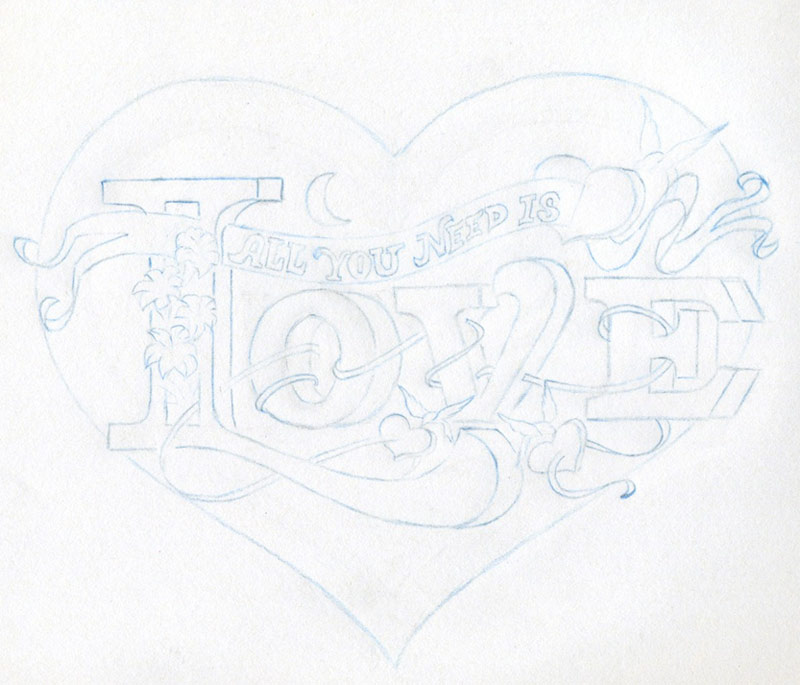 I Love You Drawings In Pencil With Heart Cliparts Co