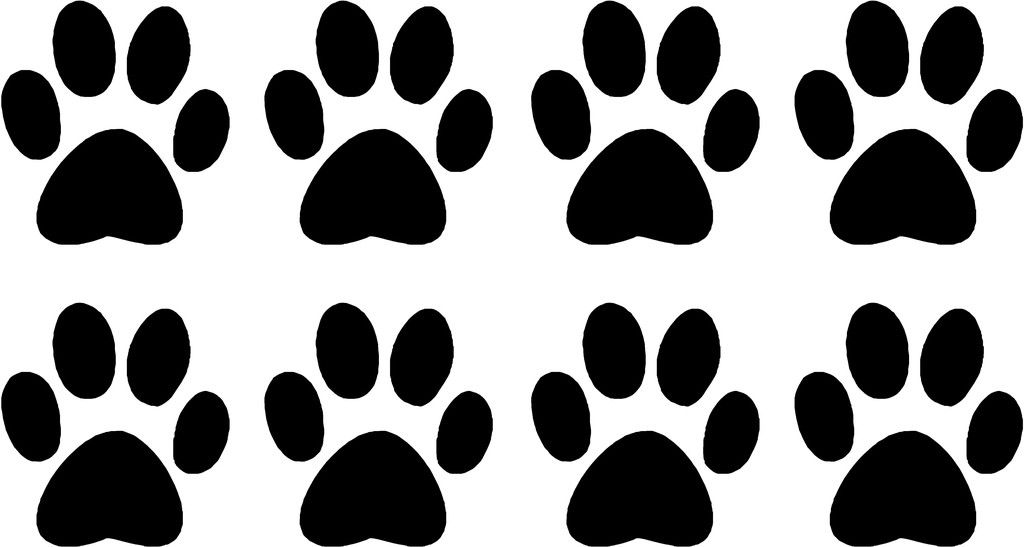 dog paw print Colouring Pages (page 2)