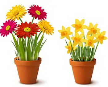 Free Clip Art Flowers In Pots 89