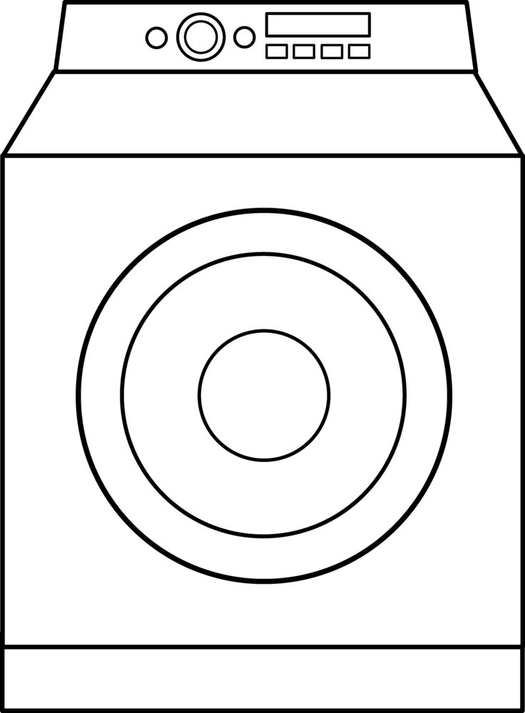 Picture Of Washing Machine - Cliparts.co