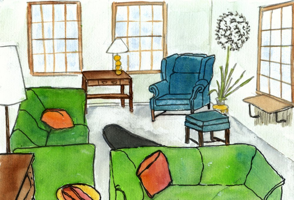 Cartoon pictures of houses for Sitting room images