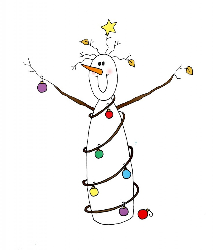 Snowman with lights | Clipart & Things | Pinterest