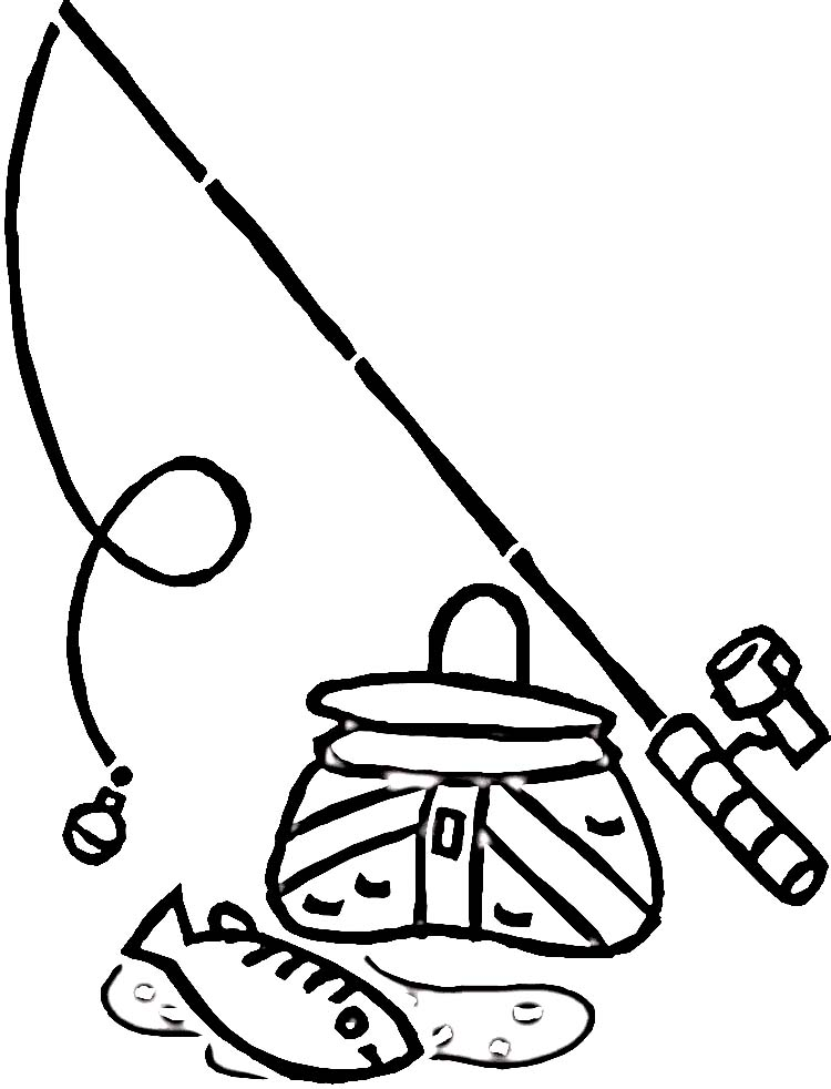 tackle box coloring pages - photo #28