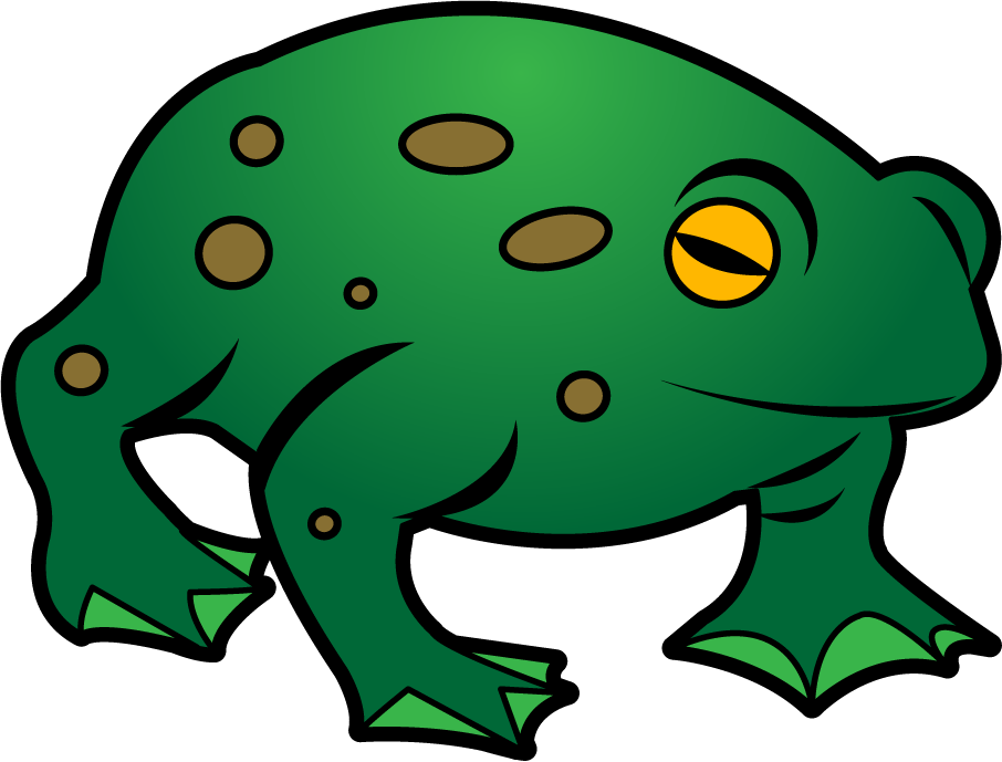 Green Toad | Clipart Fort