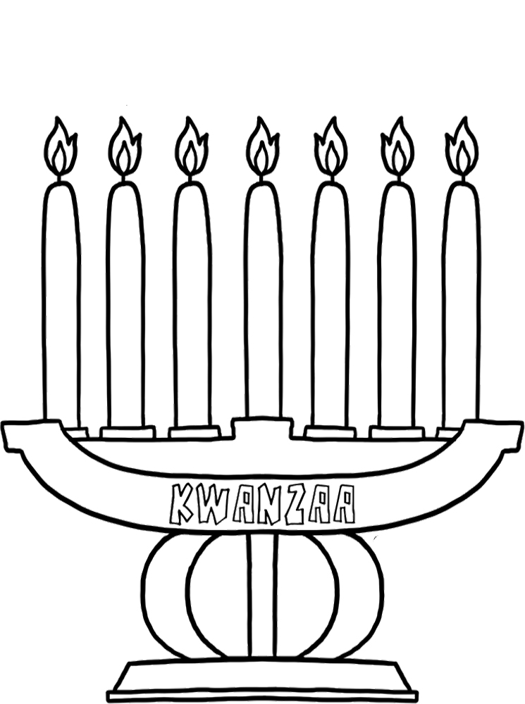 happy kwanzaa coloring pages - photo#12