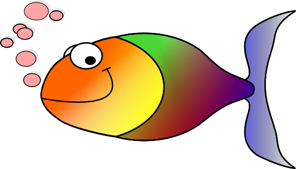 Rainbow Fish Without Fins Clip Art Vector Clip Art